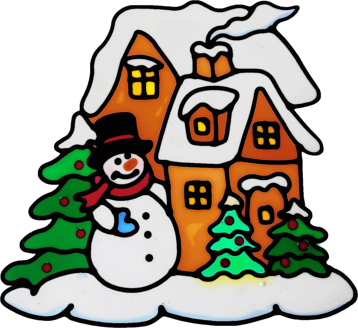 Украшение новогоднее оконное Winter Wings Снеговик у домика, 22 х 21 смN09319Новогоднее оконное украшение Winter Wings Снеговик у домика поможет украсить дом к предстоящим праздникам. Наклейка изготовлена из ПВХ.С помощью этих украшений вы сможете оживить интерьер по своему вкусу, наклеить их на окно, на зеркало или на дверь.Новогодние украшения всегда несут в себе волшебство и красоту праздника. Создайте в своем доме атмосферу тепла, веселья и радости, украшая его всей семьей. Размер наклейки: 22 х 21 см.
