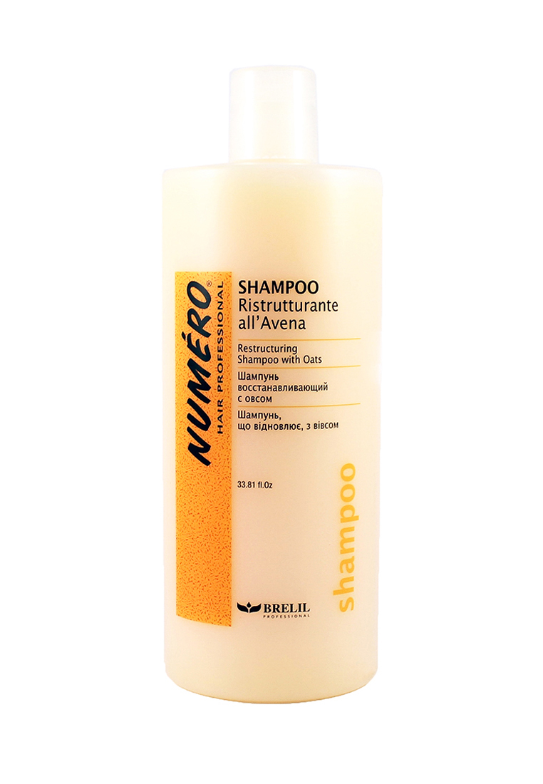 Brelil Шампунь с вытяжкой из овса Numero Oat Shampoo, 1000 млB080080Шампунь с вытяжкой из овса Brelil Professional рекомендуется использовать для активного восстановления и питания всех типов волос. Средство придает волосам блеск, эластичность и упругость.Уважаемые клиенты! Обращаем ваше внимание на то, что упаковка может иметь несколько видов дизайна. Поставка осуществляется в зависимости от наличия на складе.