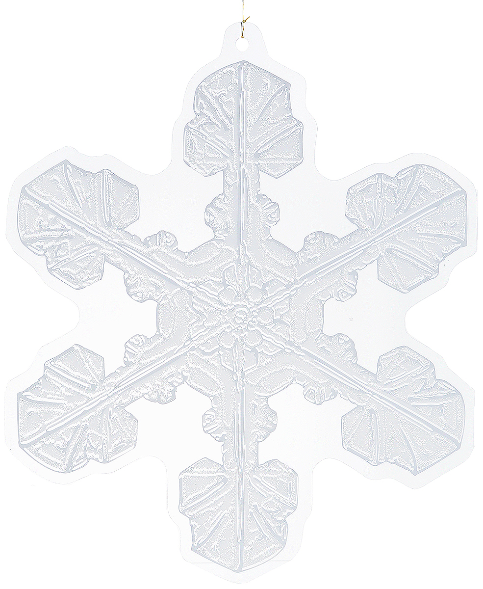 Украшение новогоднее подвесное Winter Wings Снежинка, 32 х 28 смN09157Новогоднее украшение Winter Wings Снежинка прекрасно подойдет для декора дома и праздничной елки. Изделие выполнено из ПВХ. С помощью специальной петельки украшение можно повесить в любом понравившемся вам месте. Легко складывается и раскладывается.Новогодние украшения несут в себе волшебство и красоту праздника. Они помогут вам украсить дом к предстоящим праздникам и оживить интерьер по вашему вкусу. Создайте в доме атмосферу тепла, веселья и радости, украшая его всей семьей.Размер украшения: 32 х 28 см.