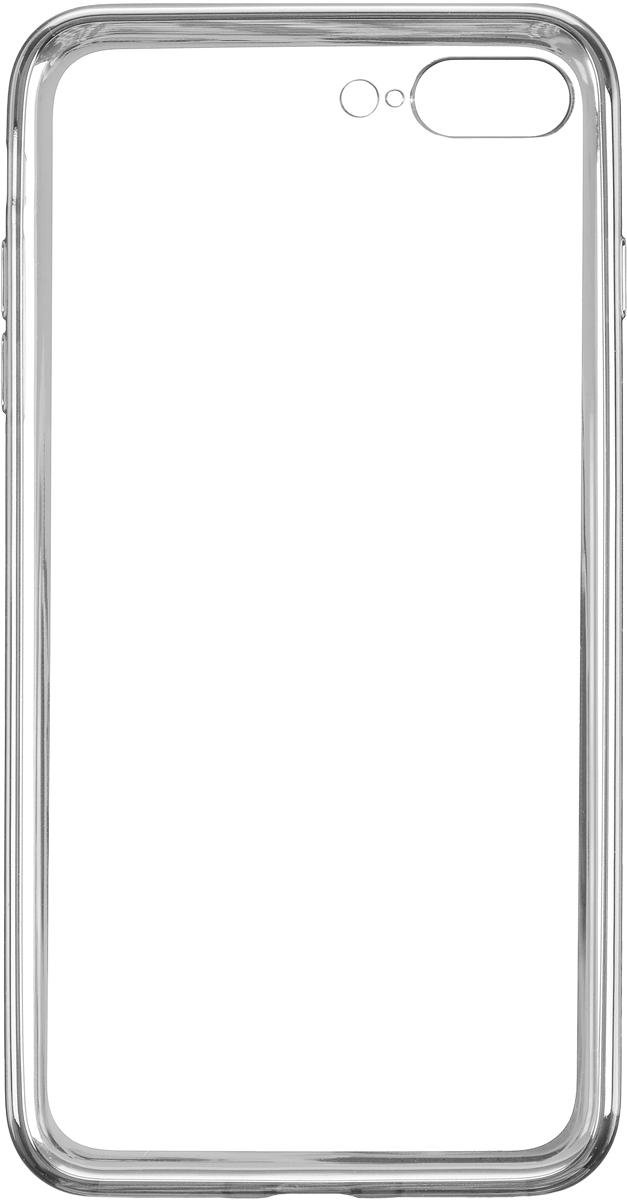 Deppa Gel Plus Case чехол для Apple iPhone 7 Plus, Silver85259Чехол Deppa Gel Plus Case для Apple iPhone 7 Plus предназначен для защиты корпуса смартфона от механических повреждений и царапин в процессе эксплуатации. Плотный высокотехнологичный TPU (силикон) производства Bayer в разы повышает защитные функции чехла. Кейс эластичен, устойчив к изломам, не запотевает и не желтеет даже при длительной эксплуатации. Кейс надежно защищает iPhone со всех сторон и имеет все необходимые, тщательно выверенные отверстия для доступа к функциональным портам, разъемам и кнопкам смартфона. Вы можете легко зарядить устройство, не снимая чехол.Специально разработанный кейс для iPhone выполнен с применением особой технологии Electroplating: специальное гальванопокрытие и стильная рамка с эффектом металла придают особый шик вашему устройству.