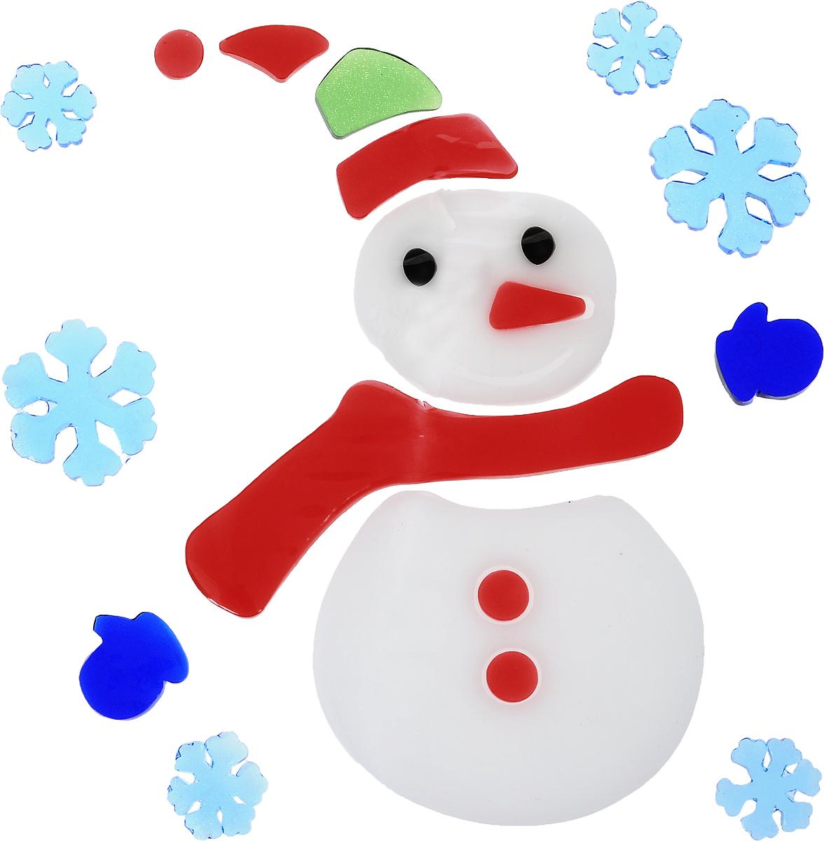 Украшение новогоднее оконное Winter Wings Новый год, 20 х 20 смN09302Новогоднее оконное украшение Winter Wings Новый год выполнено из ПВХ в виде снеговика и снежинок.С помощью гелевой наклейки можно составлять на стекле или зеркале целые зимние сюжеты, которые будут радовать глаз, и поднимать настроение в праздничные дни! Так же вы можете преподнести этот сувенир в качестве мини-презента коллегам, близким и друзьям с пожеланиями счастливого Нового года!