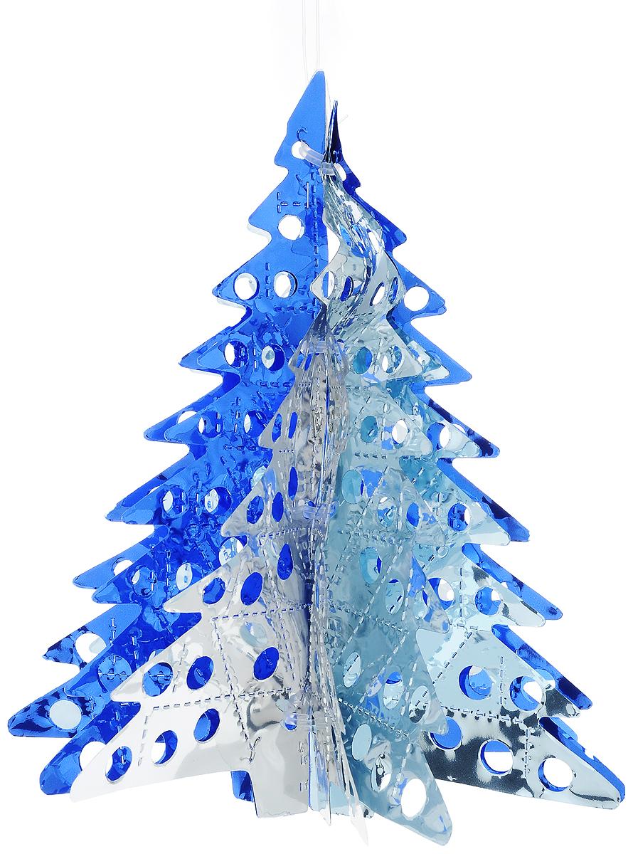 Украшение новогоднее подвесное Winter Wings Елочка, цвет: серебристый, синий, высота 26 смN09185Новогоднее украшение Winter Wings Елочка прекрасно подойдет для декора дома и праздничной елки. Изделие выполнено из ПВХ. С помощью специальной петельки украшение можно повесить в любом понравившемся вам месте. Легко складывается и раскладывается.Новогодние украшения несут в себе волшебство и красоту праздника. Они помогут вам украсить дом к предстоящим праздникам и оживить интерьер по вашему вкусу. Создайте в доме атмосферу тепла, веселья и радости, украшая его всей семьей.Диаметр украшения: 20 см.Высота украшения: 26 см.