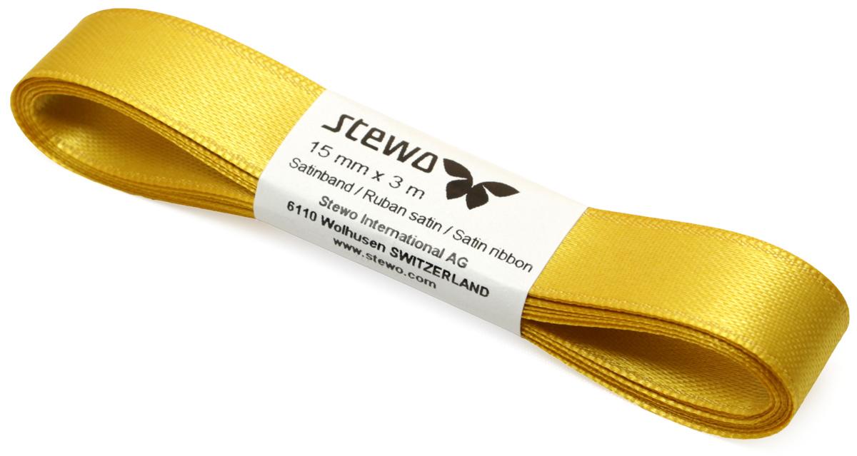Лента декоративная Brunnen, цвет: золото, 1,5 х 300 см лента декоративная prym клетка цвет белый черный 15 мм 3 м