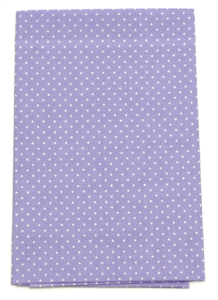 Ткань Кустарь Мелкий горошек, цвет: лаванда, 48 х 50 см. AM555004AM555004Ткань Кустарь - это высококачественная ткань из 100% хлопка, которая отлично подходит для пошива покрывал, сумок, панно, одежды, кукол. Также подходит для рукоделия в стиле скрапбукинг и пэчворк.Плотность ткани:120 г/м2.Размер: 48 х 50 см.