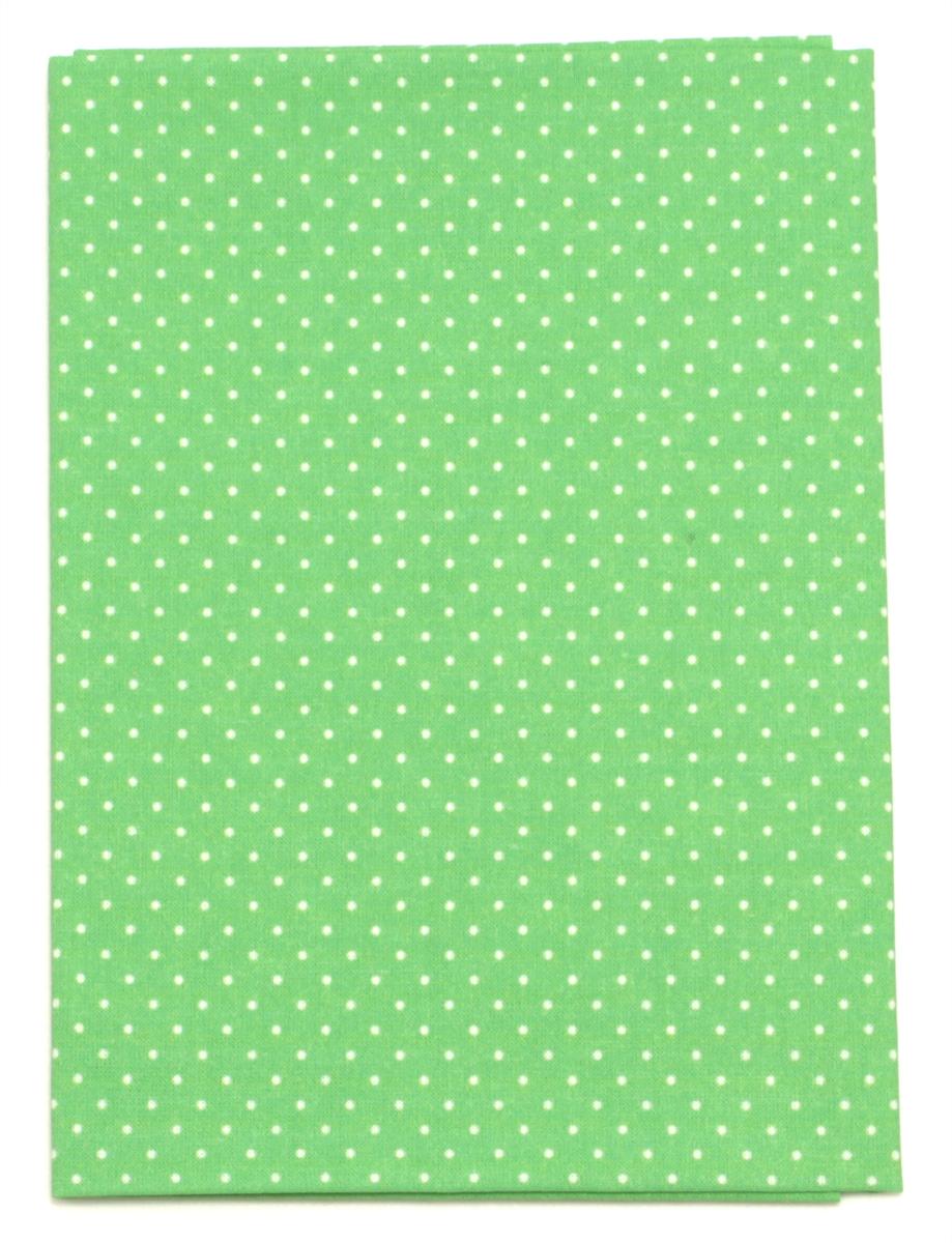 Ткань Кустарь Мелкий горошек, цвет: ярко-зеленый, 48 х 50 см. AM555008AM555008Ткань Кустарь - это высококачественная ткань из 100% хлопка, которая отлично подходит для пошива покрывал, сумок, панно, одежды, кукол. Также подходит для рукоделия в стиле скрапбукинг и пэчворк.Плотность ткани:120 г/м2. Размер: 48 х 50 см.