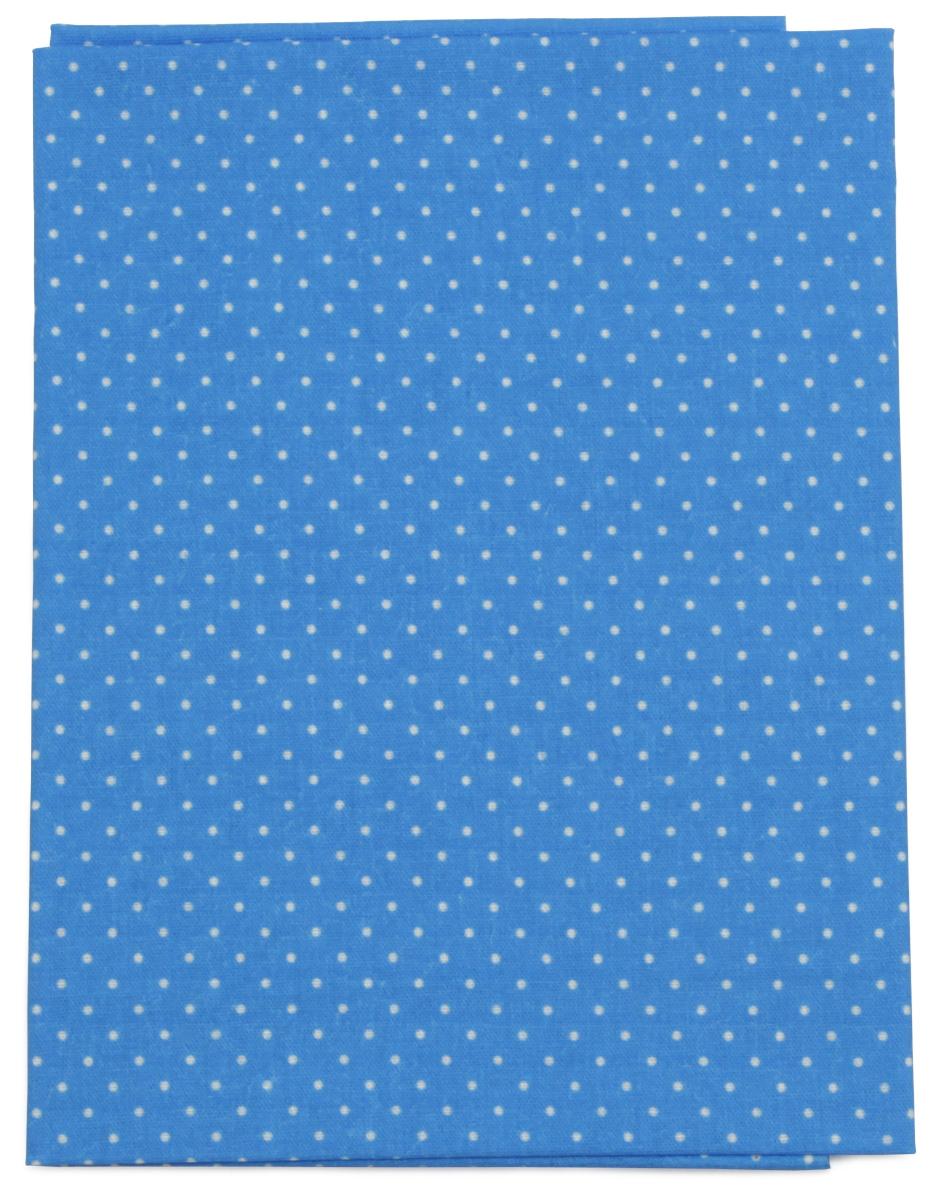 Ткань Кустарь Мелкий горошек, цвет: синий, 48 х 50 см. AM555018AM555018Ткань Кустарь - это высококачественная ткань из 100% хлопка, которая отлично подходит для пошива покрывал, сумок, панно, одежды, кукол. Также подходит для рукоделия в стиле скрапбукинг и пэчворк.Плотность ткани: 120 г/м2. Размер: 48 х 50 см.