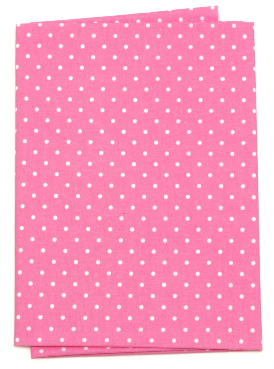Ткань Кустарь Горошек 2 мм, цвет: темно-розовый, 48 х 50 см. AM556023 подвеска кустарь кошка 10 см х 12 см х 0 4 см