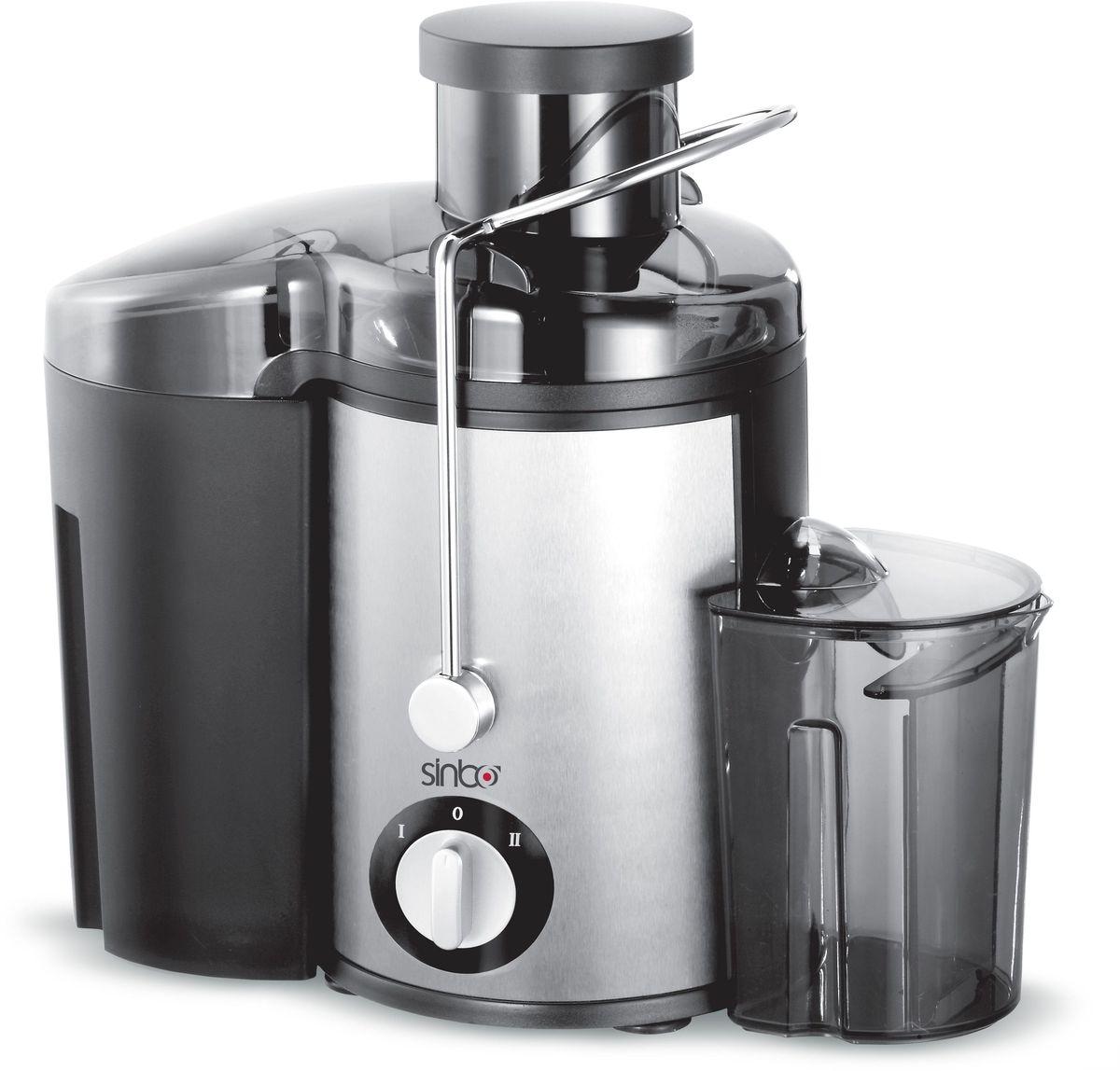 Sinbo SJ 3139, Silver Black соковыжималкаSJ 3139Соковыжималка Sinbo SJ 3139 аккуратно и эффективно извлекает возможное количество сока из фруктов и овощей, сохраняет полезные свойства. Прорезиненные ножки обеспечивают устойчивое положение устройства во время работы.