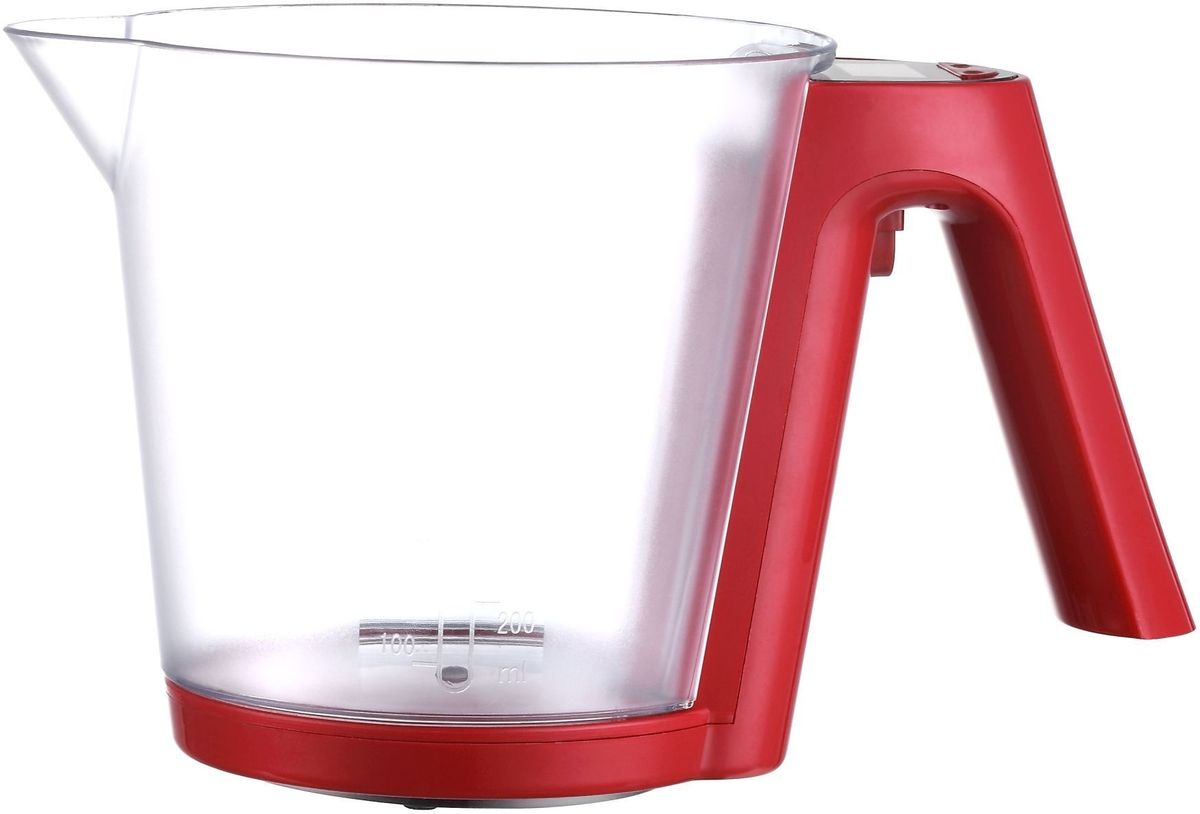 Sinbo SKS 4516, Red весы кухонныеSKS 4516Кухонные весы Sinbo SKS 4516, Red представляют собой мерную кружку с ЖК экраном на ручке. Такая конструкция довольно удобна для определения объема самых различных жидкостей. Съемная глубокая чаша сделана из прочного пищевого пластика, стойкого к химическим воздействиям, ее объем - 1,2 л. Данная модель поддерживает функцию тарокомпенсации.