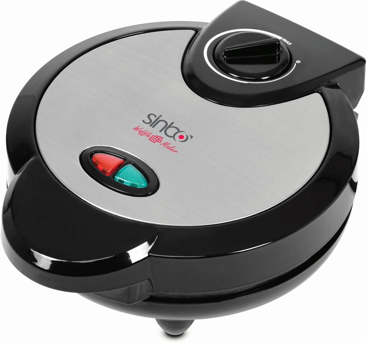 Sinbo SSM 2524, Silver электровафельницаSSM 2524Электровафельница Sinbo SSM 2524 позволит легко и быстро приготовить свежеиспеченные вафли или рожки для мороженого в домашнихусловиях. Прибор оснащен плавно регулируемым термостатом. Антипригарное покрытие рабочей поверхности облегчит очистку вафельницы, аиндикаторы работы и нагрева проинформируют вас о текущем состоянии прибора.