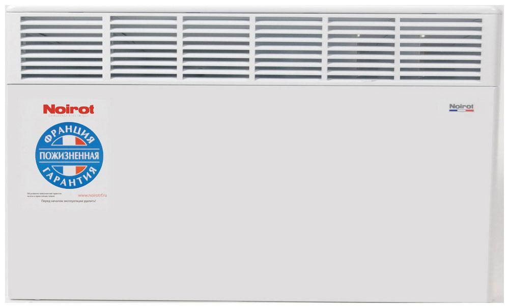 Noirot CNX-4 2000W обогревательHYH1187FJFSКонструктивные особенности конвекторов серии CNX-4 исключают возникновение посторонних шумов при нагреве и остывании электрических обогревателей и гарантируют полную безопасность в эксплуатации (отсутствие острых углов, нагрев поверхности не выше 60°С).Электронная автоматика выдерживает перепады напряжения от 150 В до 242 В, что наиболее актуально при частых скачках напряжения. На случай возможных перебоев с электропитанием в обогревателях предусмотрена функция авторестарта, восстанавливающая работу прибора в прежнем режиме.Обогреватели имеют II класс электрозащиты, не требуют специального подключения к электросети и не нуждаются в заземлении, что позволяет оставлять их включенными 24 часа в сутки. При точном соблюдении правил эксплуатации исключена любая возможность воспламенения.Градуированный термостат ASIC позволяет с точностью до градуса выставить желаемый температурный режим. Высокая точность поддержания температуры приводит к экономии электроэнергии, увеличению срока службы прибора и созданию максимального комфорта в помещении без скачков температуры.Все модели серии CNX-4 выполнены в брызгозащищенном исполнении (IP 24) и могут применяться даже во влажных помещениях.Как выбрать обогреватель. Статья OZON Гид