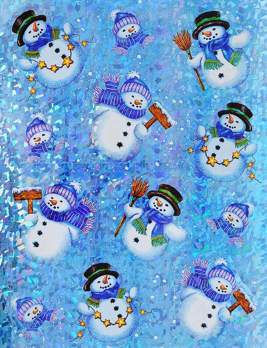 Украшение новогоднее оконное Winter Wings Снеговики, 12 штN09276Новогоднее оконное украшение Winter Wings Снеговики поможет украсить дом к предстоящим праздникам. Наклейки изготовлены из ПВХ и выполнены в виде снеговиков.С помощью этих украшений вы сможете оживить интерьер по своему вкусу, наклеить их на окно, на зеркало или на дверь.Новогодние украшения всегда несут в себе волшебство и красоту праздника. Создайте в своем доме атмосферу тепла, веселья и радости, украшая его всей семьей.Размер листа: 38 х 30 см. Средний размер наклейки: 10 х 9,5 см.