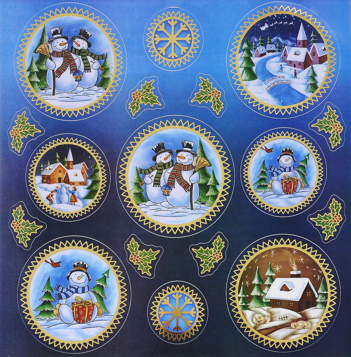 Украшение новогоднее оконное Winter Wings Снеговики, 16 штN09289Новогоднее оконное украшение Winter Wings Снеговики поможет украсить дом к предстоящим праздникам. Наклейки изготовлены из ПВХ.С помощью этих украшений вы сможете оживить интерьер по своему вкусу, наклеить их на окно, на зеркало или на дверь.Новогодние украшения всегда несут в себе волшебство и красоту праздника. Создайте в своем доме атмосферу тепла, веселья и радости, украшая его всей семьей. Размер листа: 29,5 х 29 см. Количество наклеек на листе: 16 шт. Размер самой большой наклейки: 10 х 10 см. Размер самой маленькой наклейки: 3 х 4 см.