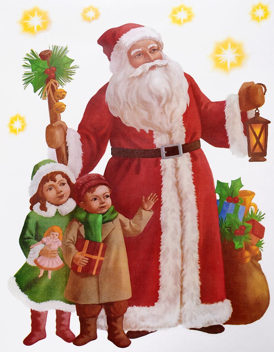 Украшение новогоднее оконное Winter Wings Дед Мороз и дети, 7 штN09277Новогоднее оконное украшение Winter Wings Дед Мороз и дети поможет украсить дом к предстоящим праздникам. Наклейки изготовлены из ПВХ и выполнены в виде Деда Мороза с детьми.С помощью этих украшений вы сможете оживить интерьер по своему вкусу, наклеить их на окно, на зеркало или на дверь.Новогодние украшения всегда несут в себе волшебство и красоту праздника. Создайте в своем доме атмосферу тепла, веселья и радости, украшая его всей семьей. Размер листа: 29,5 х 40 см. Количество наклеек на листе: 7 шт. Размер самой большой наклейки: 36,5 х 28 см. Размер самой маленькой наклейки: 2,5 х 2,5 см.