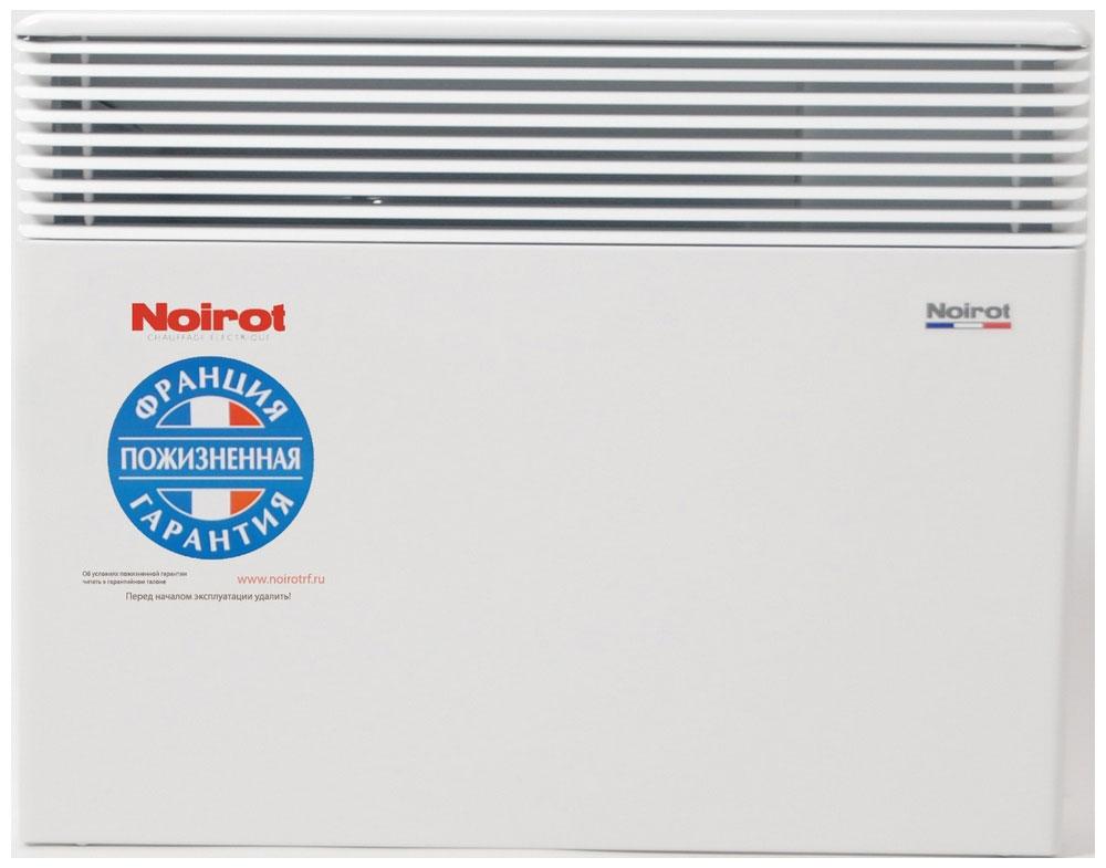 Noirot Spot E-3 Plus 1500W обогревательHY73585ARERNoirot Spot E-3 Plus - это новый электрический обогреватель конвективного типа. Вся конструкция направлена на равномерное распределение тепла для обогрева с максимальным комфортом. Конвектор работает по принципу естественной конвекции. Холодный воздух, проходя через прибор и его нагревательный элемент, нагревается и выходит сквозь решетки-жалюзи, незамедлительно начиная обогревать помещение.Конструктивные особенности конвекторов серии Spot E-3 Plus исключают возникновение посторонних шумов при нагреве и остывании электрических обогревателей и гарантируют полную безопасность в эксплуатации (отсутствие острых углов, нагрев поверхности не выше 60°С).Электронная автоматика выдерживает перепады напряжения от 150 В до 242 В, что наиболее актуально при частых скачках напряжения. На случай возможных перебоев с электропитанием в обогревателях предусмотрена функция авторестарта, восстанавливающая работу прибора в прежнем режиме.Обогреватели серии Spot Е-3 Plus оснащены электронным цифровым термостатом ASIC, который поддерживает температуру с точностью до 0,1°С. Высокая точность поддержания температуры приводит к экономии электроэнергии, увеличению срока службы прибора и созданию максимального комфорта в помещении без скачков температуры.Обогреватели имеют II класс электрозащиты, не требуют специального подключения к электросети и не нуждаются в заземлении, что позволяет оставлять их включенными 24 часа в сутки. При точном соблюдении правил эксплуатации исключена любая возможность воспламенения.Все модели серии Spot E-3 Plus выполнены в брызгозащищенном исполнении (IP 24) и могут применяться даже во влажных помещениях.