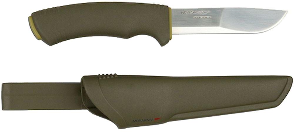 Нож туристический Morakniv Bushcraft Forest, цвет: зеленый, стальной, длина лезвия 10,9 см