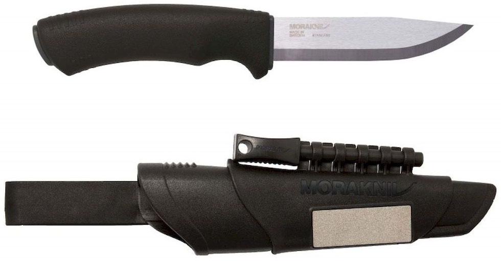 Нож туристический Morakniv Bushcraft Survival, цвет: черный, стальной, длина лезвия 10,9 см
