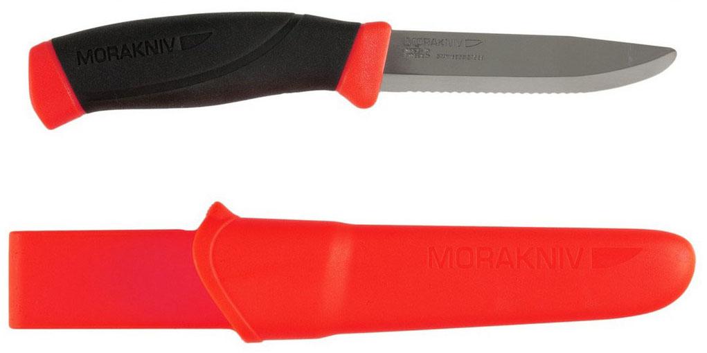 Нож туристический Morakniv Companion F Rescue, серрейтор, цвет: оранжевый, черный, стальной, длина лезвия 9,9 см