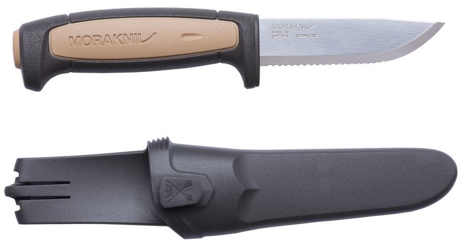 Нож туристический Morakniv Rope, серрейтор, цвет: бежевый, черный, стальной, длина лезвия 9,1 см