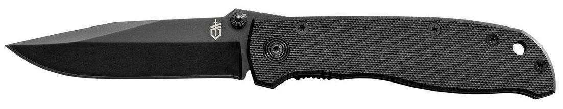 Нож туристический Gerber Air Ranger Black G-1031-002950Модель Gerber Air Ranger относится к серии тактических ножей. Его лезвие сделано из нержавеющей стали, а за счет оксидирования приобрело матовый черный цвет. Нож — складной и носить его можно прямо в кармане, используя во время путешествий, работы или в любых экстремальных ситуациях.Нож Gerber Air Ranger пригодится охотникам, путешественникам, представителям различных спецслужб. Эта модель будет интересна и просто любителям клинков хорошего качества. Благодаря тому, что конструкция ножа — складная, он легко помещается даже в карман одежды. Кроме того, этот нож оснащен надежным замком, фиксирующим его клинок. Его можно открыть и одной рукою, но сам нож открыться не может. Точно так же, лезвие не может самопроизвольно сложиться под нагрузкой во время работы с ножом. Так что, его использование полностью безопасно.Лезвие ножа выполнено из нержавеющей стали и не нуждается в каком-то особом уходе. Его форма — drop-point с острым кончиком и полностью гладкой заточкой. Помимо того, лезвие полностью матовое и черное, поскольку металл подвергся оксидированию. Это позволило как усилить коррозийную стойкость ножа, так и использовать его в тактических целях. Ведь клинок не блестит на солнце, а темное покрытие металла — не стирается. Длина лезвия этого ножа составляет 8,3 см. Сложенный нож имеет длину 10,7 см, а в открытом виде, этот параметр увеличивается до 18,5 см.Рукоятка ножа имеет две удобные накладки из стеклопластика. Этот материал называется G10 и по своей прочности не уступает металлу. В то же время, он существенно легче. Текстурная накатка на рукоятке помогает крепче удерживать нож в руках. А для его дополнительной страховки, в отверстие на конце рукоятки можно продеть темляк. Весит нож Air Ranger 73,3 грамма.Особенности:складной нож;материал лезвия — сталь 420НС;тип заточки лезвия — plain;черный цвет клинка;длина лезвия — 8,3 см;материал рукоятки — G10;вес ножа — 73,3 грамма;возможность открытия одной рукой.Гарант