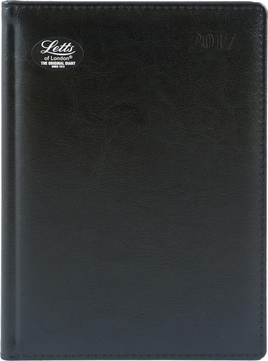 Letts Ежедневник Global Deluxe Ibiza 2017 датированный 208 листов цвет черный формат А5412127510Утонченный ежедневник Letts Global Deluxe Ibiza 2017 - идеально подойдёт настоящим ценителям английской классики.Ежедневник выполнен в твердом переплете из нежнейшей натуральной кожи черного цвета. Позолоченный срез страниц, шелковая закладка-разделитель и перфорированные уголки подчеркнут респектабельный стиль владельца.Каждая страница ежедневника имеет почасовую и календарную нумерацию. На каждый час отведено по 2 строчки, а в боковой части страницы находится 24 строчки для телефонных и почтовых заметок. На первых страницах ежедневника представлен информационный блок. Он включает международные коды, часовые пояса, меры длины, веса и других величин, размеры одежды, аэропорты Европы, национальные праздники. Также в данный блок входит график отпусков и календарь с 2016 по 2021 год. В конце ежедневника представлена телефонная книга и цветная карта мира.Ежедневники Letts Global Deluxe Ibiza 2017 - это солидность, стиль, респектабельность и оригинальность.
