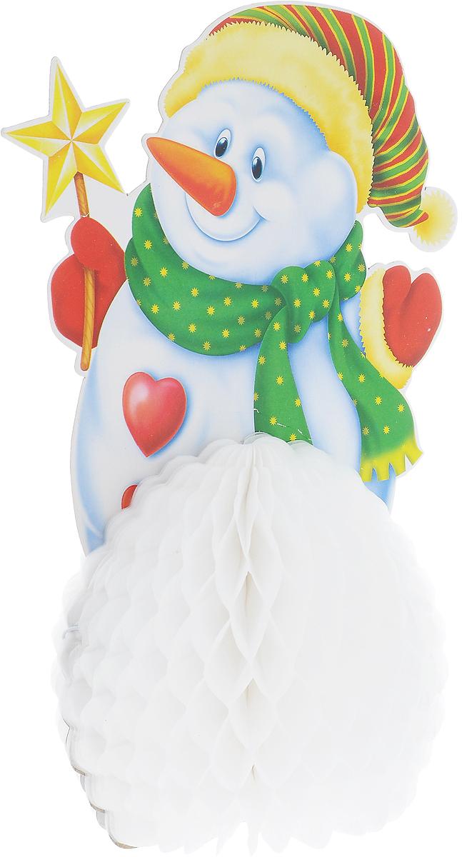 Украшение новогоднее подвесное Winter Wings Снеговик, 15,5 х 25 смN09255Оригинальное новогоднее украшение Winter Wings Снеговик выполнено из прочной бумаги. Украшение можно подвесить в любом понравившемся вам месте. Новогодние украшения приносят в дом волшебство и ощущение праздника. Создайте в своем доме атмосферу веселья и радости, украшая его всей семьей. Размер: 15,5 х 25 см.