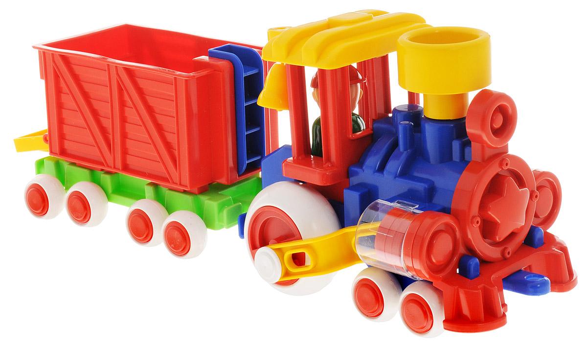 Форма Паровозик Ромашка с вагоном Детский сад