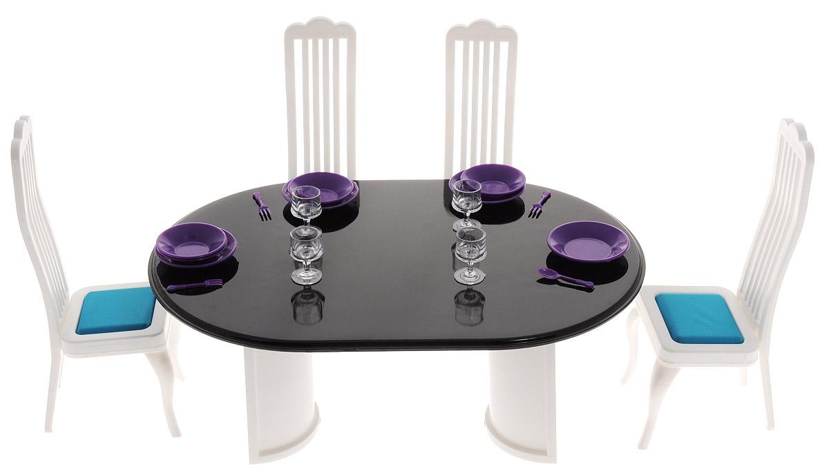 Огонек Набор мебели для кукол Столовая Конфетти огонек набор мебели для кукол коллекция для столовой