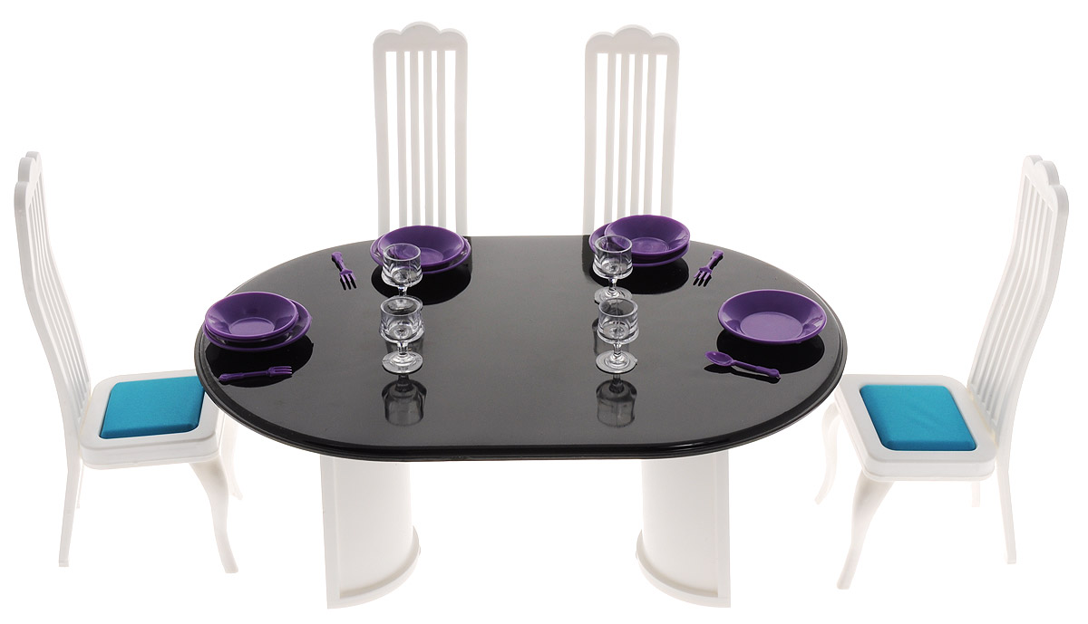 Огонек Набор мебели для кукол Столовая Конфетти набор мебели огонек для столовой коллекция