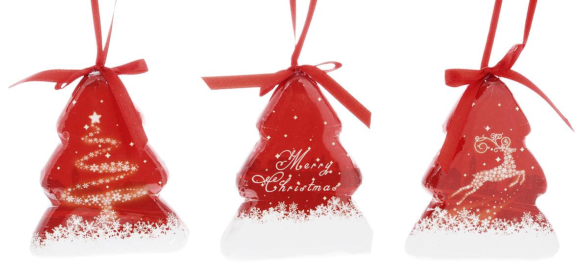 """Набор Winter Wings """"Елочки. Снежный олень"""" состоит из  3 подвесных украшений, выполненных из прессованного  картона. Оригинальные новогодние украшения  прекрасно подойдут для праздничного декора дома и  новогодней ели. С помощью специальной петельки их  можно повесить в любом понравившемся вам месте. Но,  конечно, удачнее всего такие игрушки будут смотреться  на праздничной елке.    Елочная игрушка - символ Нового года и Рождества. Она  несет в себе волшебство и красоту праздника. Создайте  в своем доме атмосферу веселья и радости, украшая  новогоднюю елку нарядными игрушками, которые будут  из года в год накапливать теплоту воспоминаний.   Материалы: прессованный картон, текстиль.  Размер украшения: 7,5 х 1,5 х 9 см."""