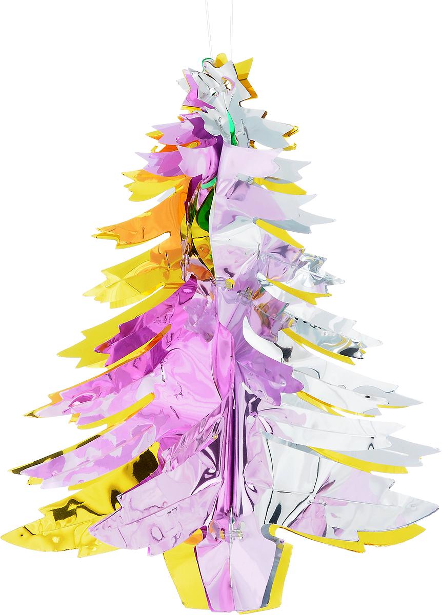 Украшение новогоднее подвесное Winter Wings Елочка, высота 30 смN09191Новогоднее украшение Winter Wings Елочка прекрасно подойдет для декора дома и праздничной елки. Изделие выполнено из ПВХ. С помощью специальной петельки украшение можно повесить в любом понравившемся вам месте. Легко складывается и раскладывается.Новогодние украшения несут в себе волшебство и красоту праздника. Они помогут вам украсить дом к предстоящим праздникам и оживить интерьер по вашему вкусу. Создайте в доме атмосферу тепла, веселья и радости, украшая его всей семьей.Диаметр украшения: 26 см.Высота украшения: 30 см.