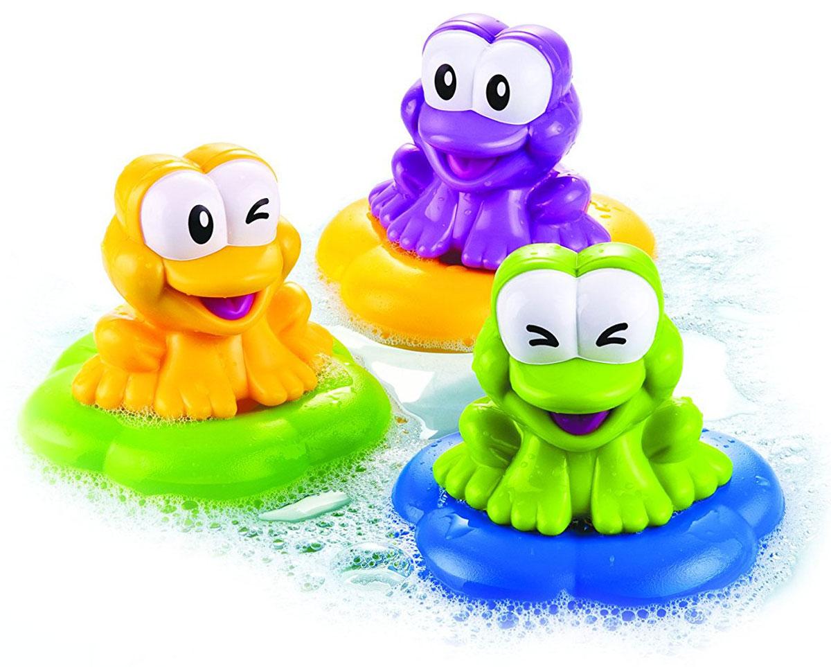 B kids Набор игрушек для ванной Веселые лягушки 3 шт живые лягушки в оквариум
