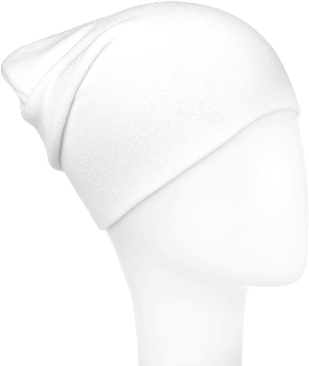 Шапка для девочки Elfrio, цвет: белый. RFH5713. Размер 55/56RFH5713Шапка для девочки Elfrio отлично подойдет для прогулок в прохладное время года. Изделие, изготовленное из акрила и эластана, максимально сохраняет тепло. Шапка плотно прилегает к голове ребенка, мягкая и приятная на ощупь. Удлиненная модель шапки идеально подходит для любого типа лица. Изделие дополнено небольшой жаккардовой нашивкой с названием бренда. Двухслойную шапку можно носить как с отворотом, так и без. Такая модель будет актуальна как на спортивных мероприятиях, так и в повседневной жизни. Современный дизайн и расцветка делают эту шапку модным и стильным предметом детского гардероба. В ней ребенку будет тепло, уютно и комфортно. Уважаемые клиенты!Размер, доступный для заказа, является обхватом головы.