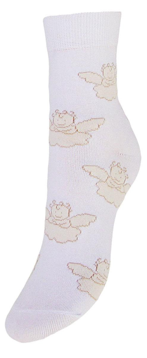 Носки детские Гранд, цвет: белый, 2 пары. TCL5. Размер 22/24 носки детские гранд цвет серый 2 пары tcl8 размер 22 24