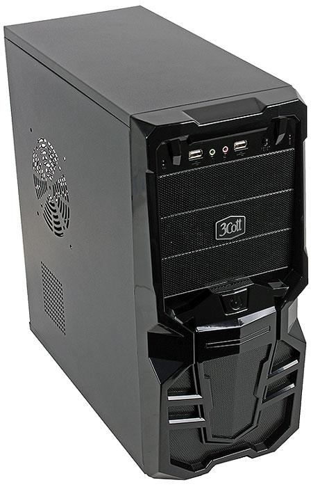 3Cott Goth компьютерный корпус (3C-ATX113G)3C-ATX113GКорпус 3Cott Goth – ATX корпус для сборки игровых систем начального уровня. Черная передняя панель выполнена в готическом стиле, с черными глянцевыми гранями и декоративными решетками.Кнопка включения располагается в нише по центру передней панели, а два дополнительных USB 2.0 порта и аудиовыходы – в верхней части. Блок питания мощностью 500 Вт позволяет использовать требовательные к питанию комплектующие, а продуманная система циркуляции воздуха с возможностью установки дополнительных вентиляторов обеспечит стабильное охлаждение комплектующих.