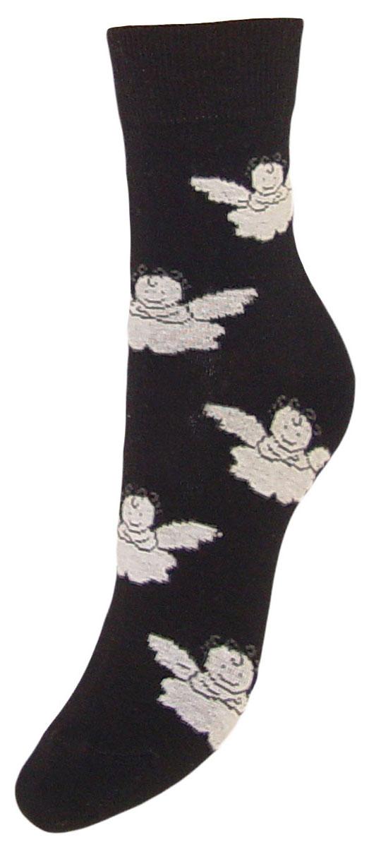 Носки детские Гранд, цвет: черный, 2 пары. TCL5. Размер 22/24TCL5Подростковые носки выполнены из высококачественного хлопка, предназначены для повседневной носки. Носки с текстурным рисунком ангелочки имеют безупречный внешний вид, после стирки не меняют цвет, усилены пятка и мысок для повышенной износостойкости, функция отвода влаги позволяет сохранить ноги сухими, благодаря свойствам эластана, не теряют первоначальный вид. Носки долгое время сохраняют форму и цвет, а так же обладают антибактериальными и терморегулирующими свойствами.