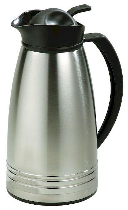 Термос Axentia, 1 л116712Термос Axentia, изготовленный из нержавеющей стали с двойными стенками, является простым в использовании, экономичным и многофункциональным. Изделие выполнено в виде кувшина, оснащенного удобной ручкой и носиком для слива жидкости. Термос предназначен для хранения горячих и холодных напитков (чая, кофе) и укомплектован крышкой с кнопкой. Такая крышка удобна в использовании и позволяет, не отвинчивая ее, наливать напитки после простого нажатия. Легкий и прочный термос Axentia сохранит ваши напитки горячими или холодными надолго.