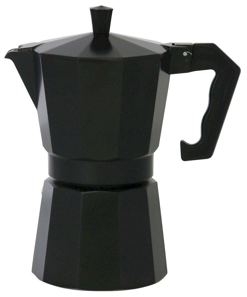 """Гейзерная кофеварка """"Axentia"""" позволит вам приготовить ароматный кофе  Espresso на 6 персон. Корпус кофеварки изготовлен из высококачественного  литого  алюминия. Кофеварка состоит из двух соединенных между собой емкостей и  снабжена алюминиевым фильтром-перколятором, который сохраняет аромат  кофе.  Данная модель  предельно проста в использовании, в ней отсутствуют подвижные части и  нагревательные элементы, поэтому в ней нечему ломаться. Гейзерные  кофеварки являются самыми популярными в мире и позволяют приготовить  ароматный кофе за считанные минуты. Основной принцип действия  гейзерной кофеварки состоит в том, что напиток заваривается путем  прохождения горячей воды через слой молотого кофе. В нижнюю часть  гейзерной кофеварки заливается вода, в промежуточную часть засыпается  молотый кофе, кофеварка ставится на огонь или электрическую плиту. Закипая,  вода начинает испаряться и превращается в пар. Избыточное давление пара в  нижней части кофеварки выдавливает горячую воду через молотый кофе и  подобно небольшому гейзеру попадает в верхний отсек, где и собирается в  готовый кофе. Время приготовления в гейзерной кофеварке составляет  примерно 5 минут. Кофеварку можно использовать на всех типах плит,  кроме индукционных."""