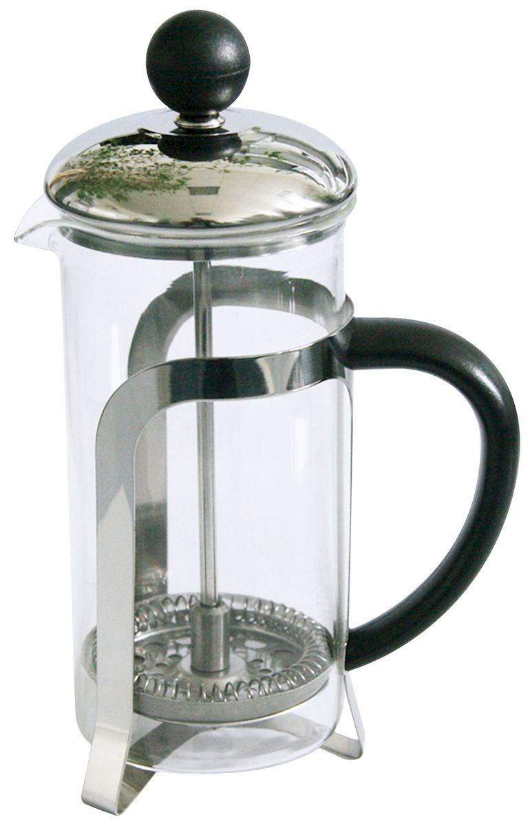 """Френч-пресс Axentia """"Chiasso"""", выполненный из стекла, пластика и нержавеющей стали,  практичный и простой в  использовании. Засыпая чайную заварку под фильтр и заливая ее горячей водой,  вы получаете  ароматный чай с оптимальной крепостью и насыщенностью. Остановить процесс  заварки чая  легко. Для этого нужно просто опустить поршень, и заварка уйдет вниз, оставляя  вверху напиток,  готовый к употреблению.  Современный дизайн полностью соответствует последним модным тенденциям в  создании  предметов бытовой техники."""
