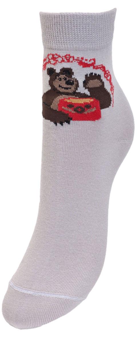 Носки детские Гранд, цвет: серый, 2 пары. YCL8. Размер 18/20 носки детские гранд цвет серый 2 пары ycl8 размер 18 20