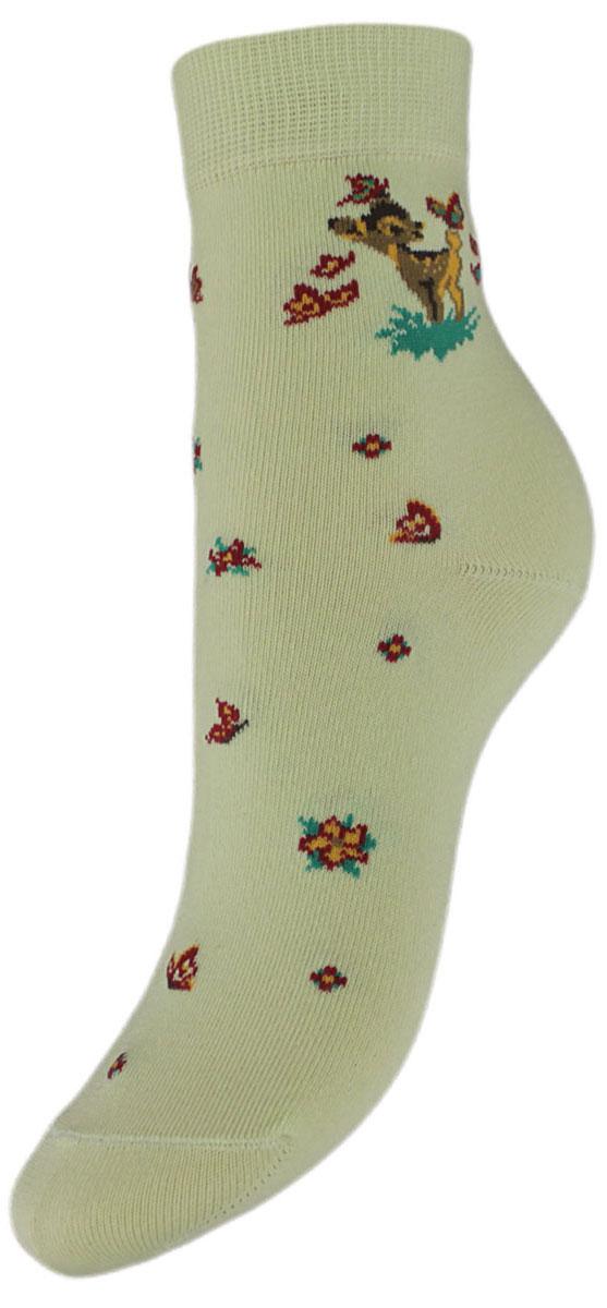 Носки детские Гранд, цвет: салатовый, 2 пары. YCL10. Размер 18/20YCL10Детские носки выполнены из высококачественного хлопка. Носки с текстурным рисунком на паголенке олененок изготовлены по европейским стандартам из самой лучшей гребенной пряжи, хорошо держат форму и обладают повышенной воздухопроницаемостью, имеют безупречный внешний вид, после стирки не меняют цвет, усилены пятка и мысок для повышенной износостойкости, функция отвода влаги позволяет сохранить ноги сухими, благодаря свойствам эластана, не теряют первоначальный вид. Носки долгое время сохраняют форму и цвет, а так же обладают антибактериальными и терморегулирующими свойствами.