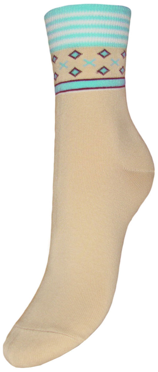 Носки детские Гранд, цвет: бежевый, бирюзовый, 2 пары. YCL22. Размер 22/24YCL22Детские носки выполнены из высококачественного хлопка. Носки имеют безупречный внешний вид, хорошо держат форму и обладают повышенной воздухопроницаемостью, после стирки не меняют цвет, усилены пятка и мысок для повышенной износостойкости, функция отвода влаги позволяет сохранить ноги сухими, благодаря эластану не теряют первоначальные свойства, гребенная пряжа делает изделие приятным на ощупь. Компания Гранд использует только натуральные волокна для изготовления детских носков по всем требованиям медицинских стандартов, что не наносит вреда детской коже.