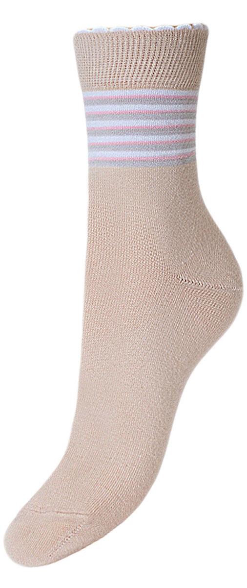 Носки детские Гранд, цвет: бежевый, 2 пары. YCL23. Размер 18/20YCL23Детские носки выполнены из высококачественного хлопка .Носки с текстурным рисунком на паголенке полоски имеют мягкую анатомическую резинку в два борта с пикотом , хорошо держат форму и обладают повышенной воздухопроницаемостью, приятные на ощупь, после стирки не меняют цвет, усилены пятка и мысок для повышенной износостойкости, функция отвода влаги позволяет сохранить ноги сухими, благодаря эластану не теряют первоначальные свойства. Компания Гранд использует только натуральные волокна для изготовления детских носков по всем требованиям медицинских стандартов, что не наносит вреда детской коже.