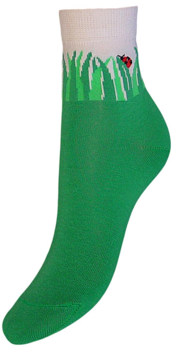 Носки детские Гранд, цвет: зеленый, 2 пары. YCL33. Размер 16/18YCL33Детские носки выполнены из высококачественного хлопка. Носки с текстурным рисунком на паголенке божья коровка сидит на травке хорошо держат форму и обладают повышенной воздухопроницаемостью, имеют безупречный внешний вид, после стирки не меняют цвет, усилены пятка и мысок для повышенной износостойкости. Носки долгое время сохраняют форму и цвет, а так же обладают антибактериальными и терморегулирующими свойствами.