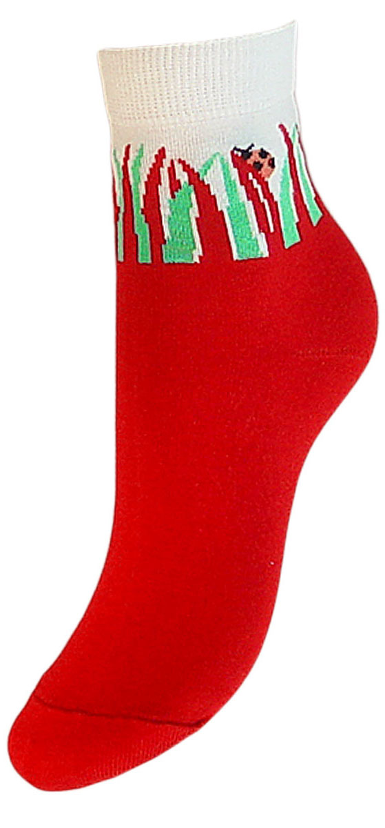 Носки детские Гранд, цвет: красный, 2 пары. YCL33. Размер 18/20YCL33Детские носки выполнены из высококачественного хлопка. Носки с текстурным рисунком на паголенке божья коровка сидит на травке хорошо держат форму и обладают повышенной воздухопроницаемостью, имеют безупречный внешний вид, после стирки не меняют цвет, усилены пятка и мысок для повышенной износостойкости. Носки долгое время сохраняют форму и цвет, а так же обладают антибактериальными и терморегулирующими свойствами.
