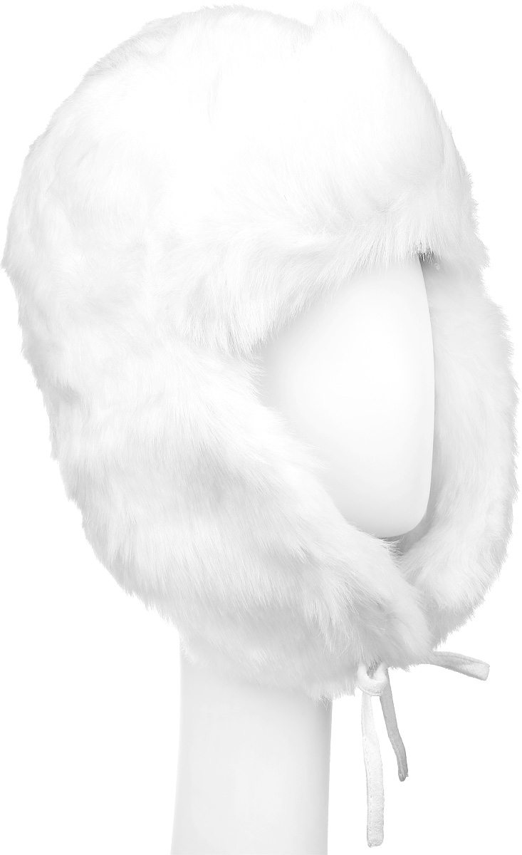 Шапка женская Herman, цвет: молочный. NINON. Размер M (57)NINONТеплая шапка Herman выполнена из искусственного меха. Подкладка выполнена из высококачественного нейлона.Шапка дополнена завязками.Уважаемые клиенты!Размер, доступный для заказа, является обхватом головы.