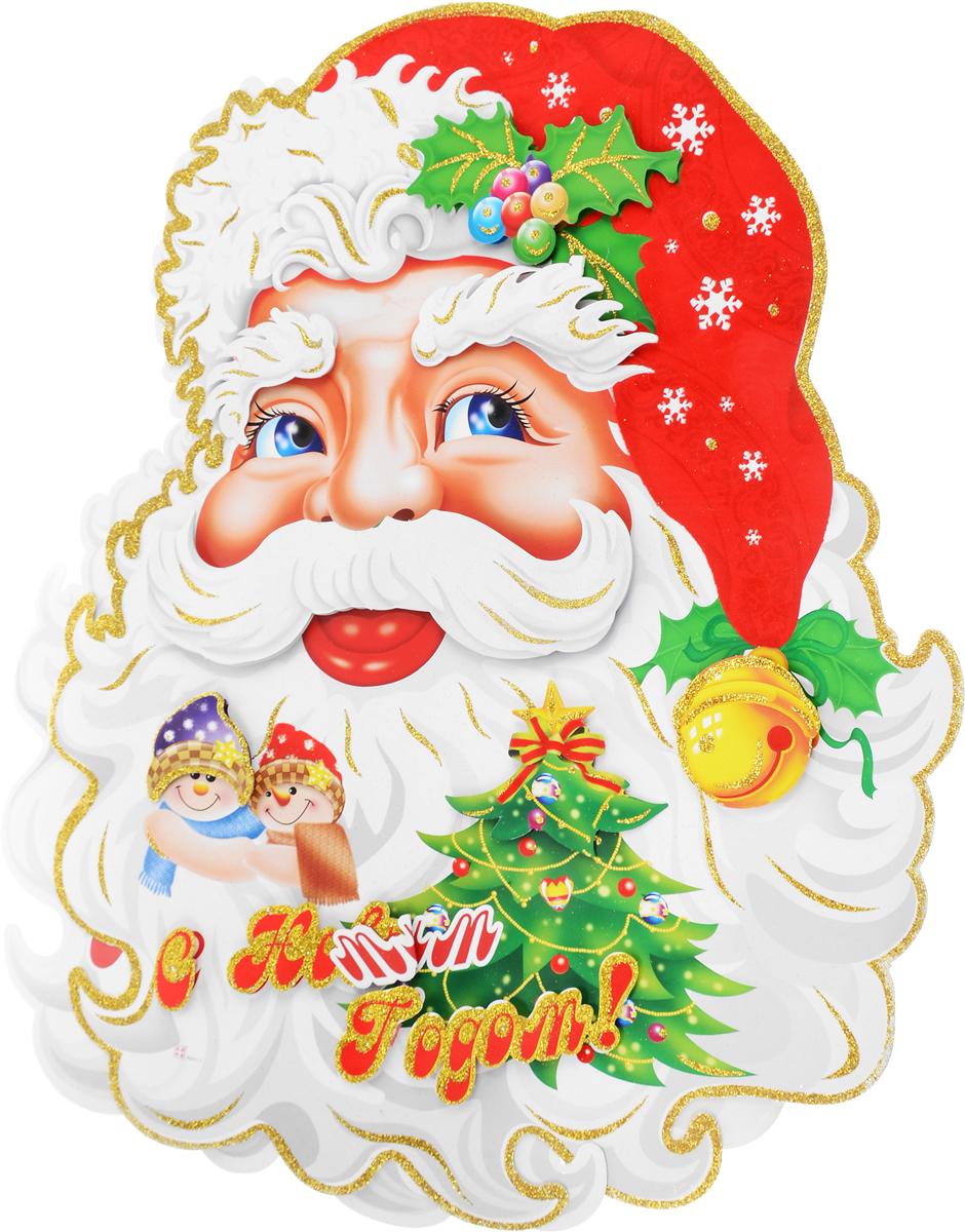 Украшение новогоднее Winter Wings Дед Мороз, настенное, 55 х 88 см, 2 шт украшение новогоднее настенное win max дед мороз 31 х 56 см