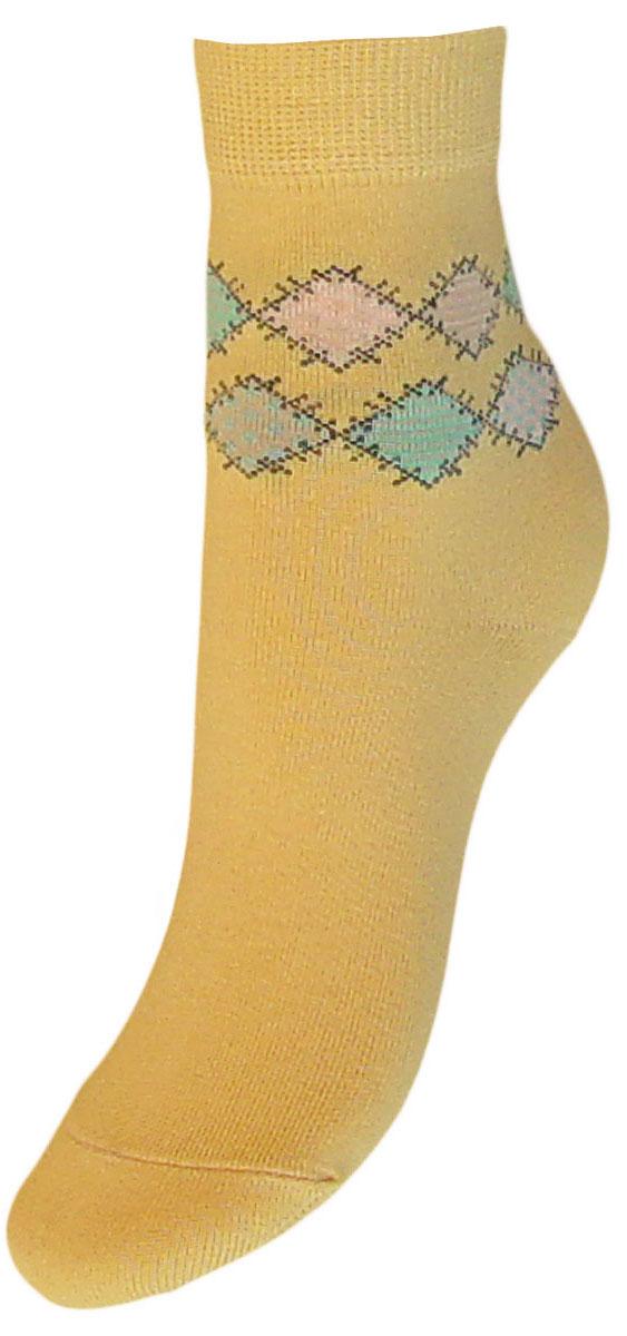 Носки детские Гранд, цвет: желтый, 2 пары. YCL40. Размер 18/20YCL40Детские носки выполнены из высококачественного хлопка. Носки имеют классический паголенок с рисунком ромбы, хорошо держат форму и обладают повышенной воздухопроницаемостью, после стирки не меняют цвет, усилены пятка и мысок. За счет добавленной лайкры в пряжу, повышена эластичность и срок службы изделия.Носки долгое время сохраняют форму и цвет, а так же обладают антибактериальными и терморегулирующими свойствами.