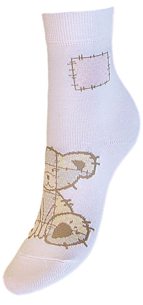 Носки детские Гранд, цвет: белый, 2 пары. YCL41. Размер 12/14 носки детские гранд цвет серый 2 пары tcl8 размер 22 24