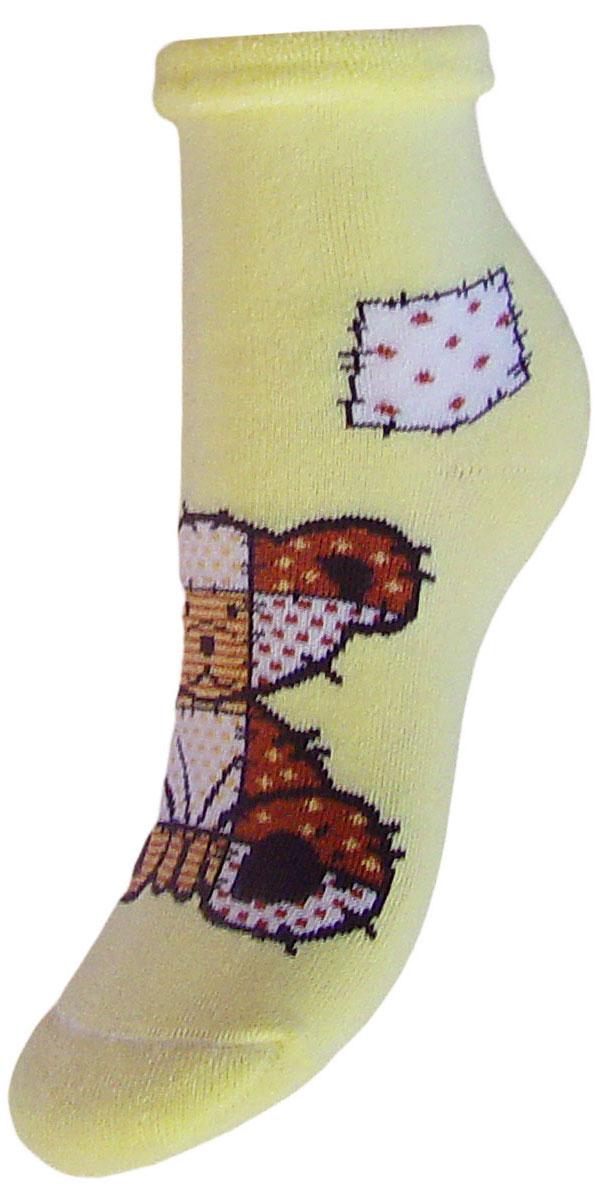 Носки детские Гранд, цвет: желтый, 2 пары. YCL41M. Размер 18/20YCL41MДетские зимние носки выполнены из высококачественного хлопка. Махра отлично сохраняет тепло. Носки с текстурным рисунком плюшевый мишка хорошо держат форму и обладают повышенной воздухопроницаемостью, имеют безупречный внешний вид, после стирки не меняют цвет, усилены пятка и мысок. За счет добавленной лайкры в пряжу, повышена эластичность и срок службы изделия.Носки долгое время сохраняют форму и цвет, а так же обладают антибактериальными и терморегулирующими свойствами.